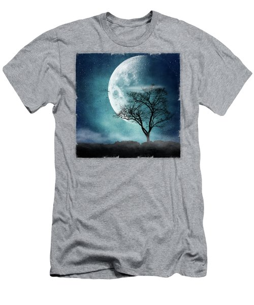 Moon Blues Men's T-Shirt (Athletic Fit)
