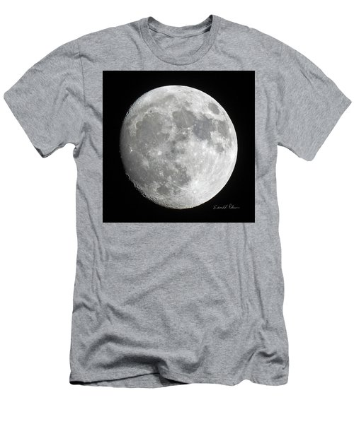 Men's T-Shirt (Athletic Fit) featuring the photograph Moon Waxing Gibbous by Edward Peterson
