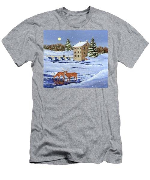 Moonlight Millpond Whitetails Men's T-Shirt (Athletic Fit)