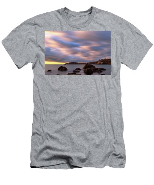 Men's T-Shirt (Athletic Fit) featuring the photograph Morning Glow, Stage Fort Park. Gloucester Ma. by Michael Hubley