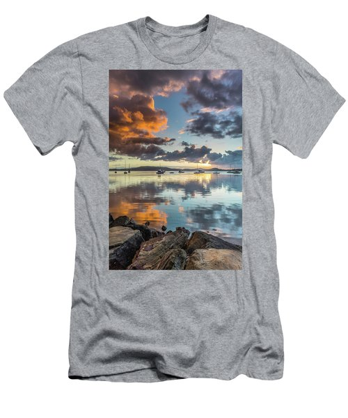 Morning Reflections Waterscape Men's T-Shirt (Athletic Fit)