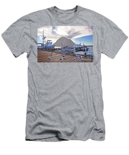 Morro Bay Harbor Men's T-Shirt (Athletic Fit)