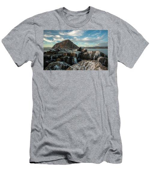 Morro Rock Breakwater Men's T-Shirt (Athletic Fit)