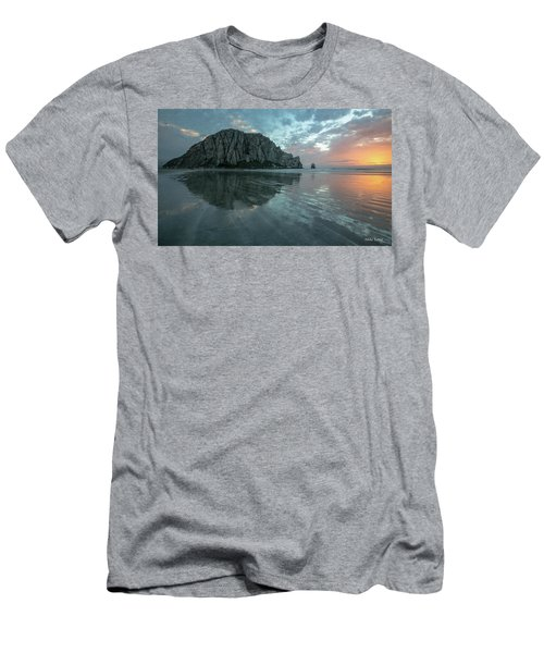 Morro Rock Sunset Men's T-Shirt (Athletic Fit)