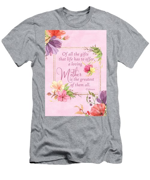 Mother Is The Greatest Gift Men's T-Shirt (Athletic Fit)