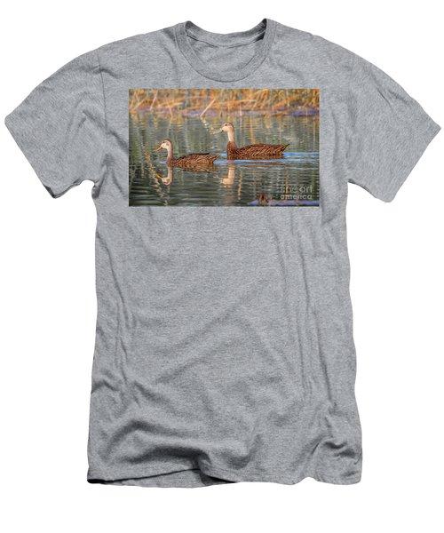 Mottled Duck Reflection Men's T-Shirt (Athletic Fit)