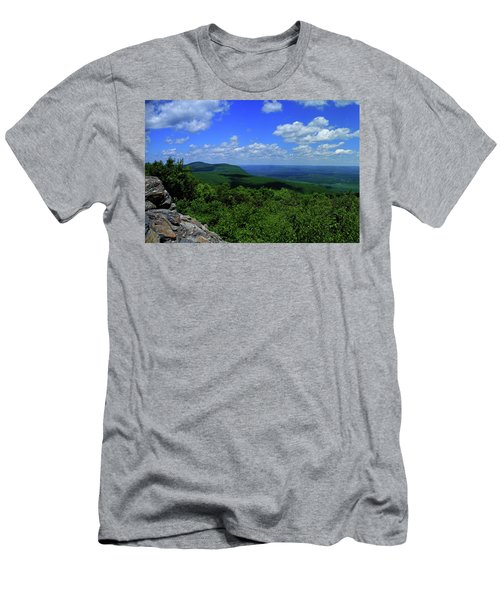 Men's T-Shirt (Athletic Fit) featuring the photograph Mount Everett And Mount Race From The Summit Of Bear Mountain In Connecticut by Raymond Salani III