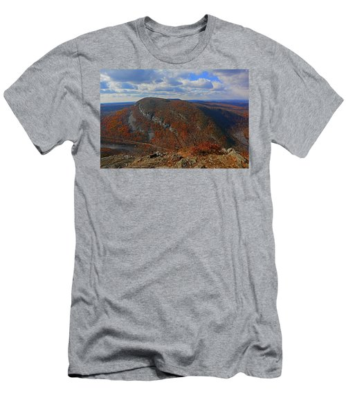 Men's T-Shirt (Athletic Fit) featuring the photograph Mount Minsi And The Delaware River From Mount Tammany by Raymond Salani III