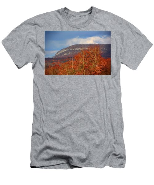 Men's T-Shirt (Athletic Fit) featuring the photograph Mount Tammany From Route I-80's Scenic Overlook by Raymond Salani III