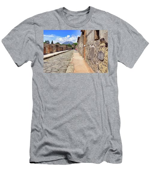Mount Vesuvius And The Ruins Of Pompeii Italy Men's T-Shirt (Athletic Fit)