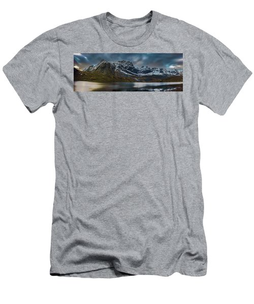 Mountain Lake In Norway On Lofoten Near Nusfjord Men's T-Shirt (Athletic Fit)