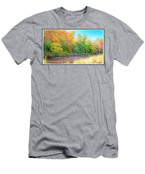 Mountain Stream In Early Autumn Men's T-Shirt (Athletic Fit)
