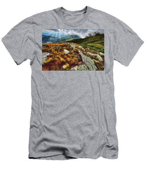 Men's T-Shirt (Athletic Fit) featuring the photograph Mt. Washington Nh, Autumn Rays by Michael Hubley
