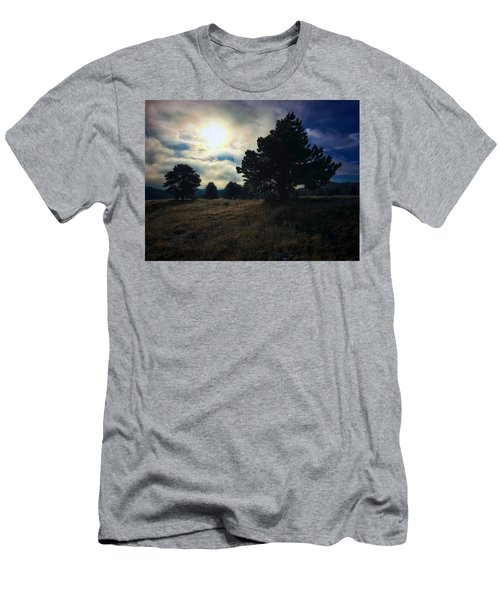 Men's T-Shirt (Athletic Fit) featuring the photograph Murky Atmosphere Elk Meadow by Dan Miller