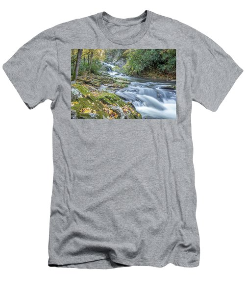 Men's T-Shirt (Athletic Fit) featuring the photograph Nantahala Fall Flow by David R Robinson