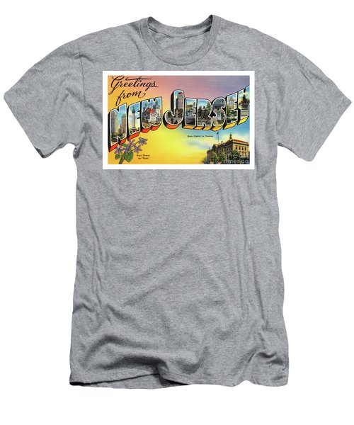 New Jersey Greetings - Version 2 Men's T-Shirt (Athletic Fit)
