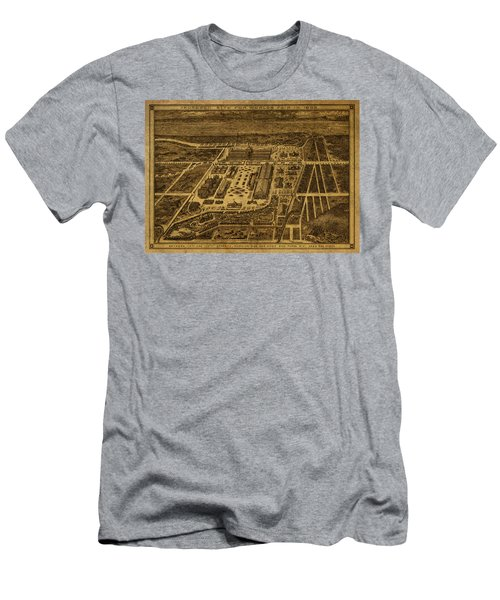 New York Worlds Fair Map 1894 Men's T-Shirt (Athletic Fit)