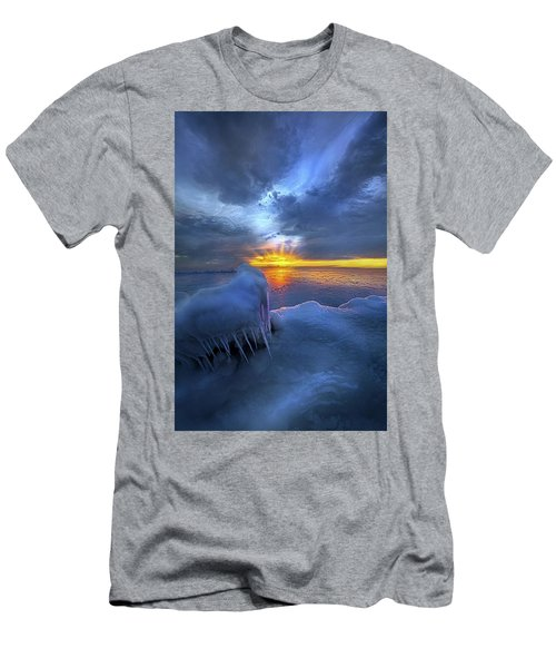 Men's T-Shirt (Athletic Fit) featuring the photograph No Winter Skips Its Turn. by Phil Koch