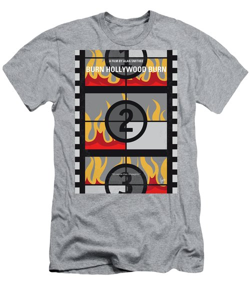 No1056 My Burn Hollywood Burn Minimal Movie Poster Men's T-Shirt (Athletic Fit)