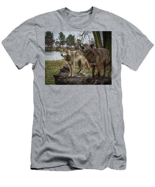 Noisy Wolf Men's T-Shirt (Athletic Fit)
