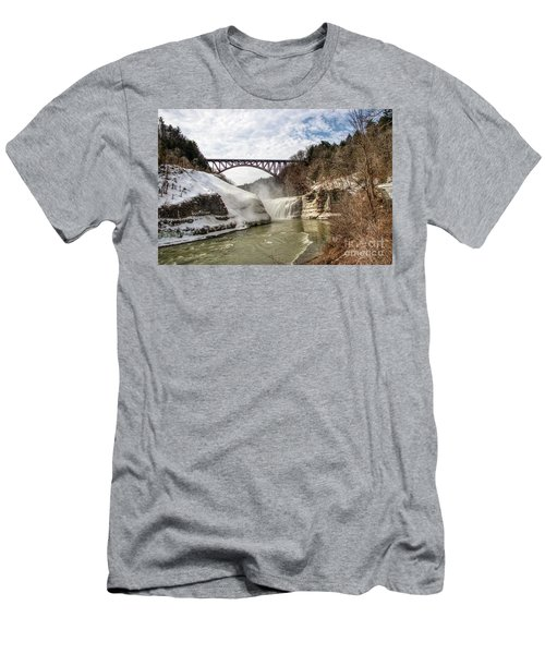 Winter At Letchworth State Park Men's T-Shirt (Athletic Fit)