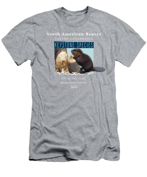 North American Beaver Men's T-Shirt (Athletic Fit)