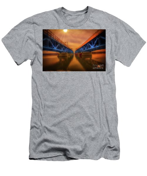 North Grand Island Bridge Men's T-Shirt (Athletic Fit)