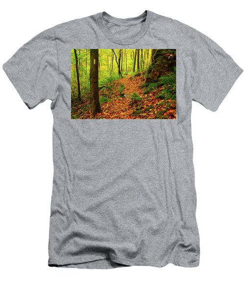 Men's T-Shirt (Athletic Fit) featuring the photograph North Side Of Mount Greylock's At 2 by Raymond Salani III
