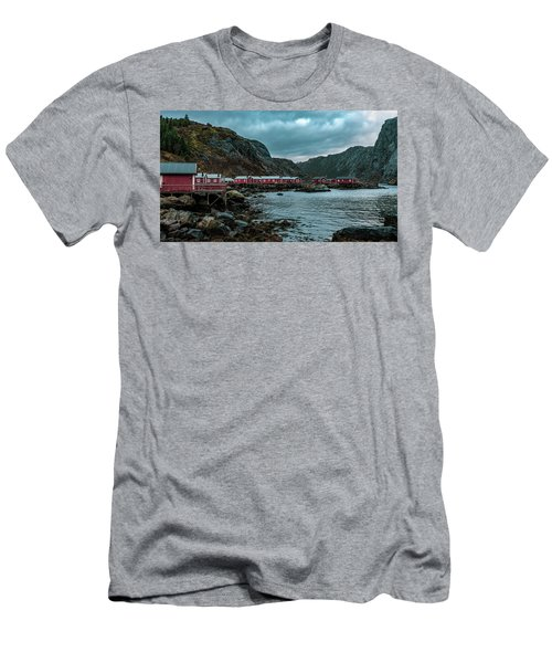 Norway Panoramic View Of Lofoten Islands In Norway With Sunset Scenic Men's T-Shirt (Athletic Fit)