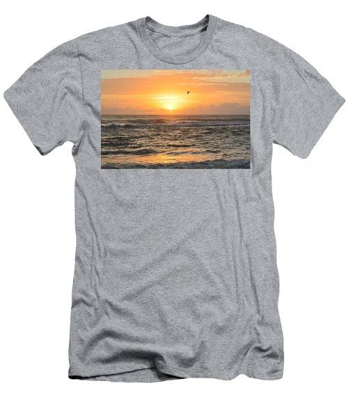 Men's T-Shirt (Athletic Fit) featuring the photograph Obx Sunrise 9/17/2018 by Barbara Ann Bell