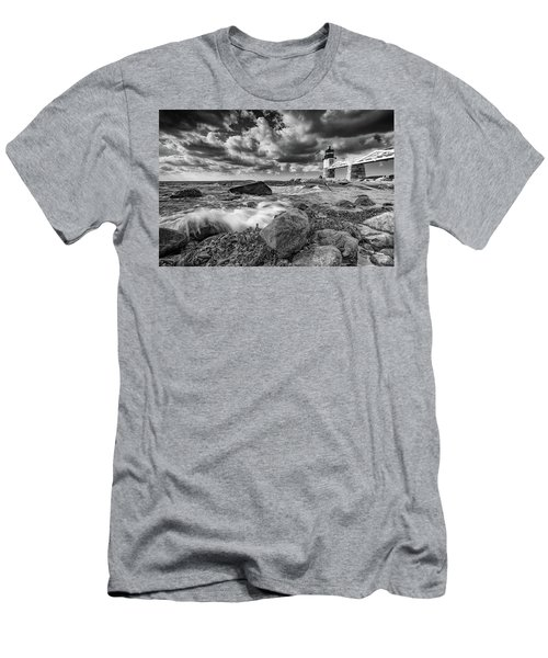 Men's T-Shirt (Athletic Fit) featuring the photograph October Morning At Marshall Point In Black And White by Rick Berk