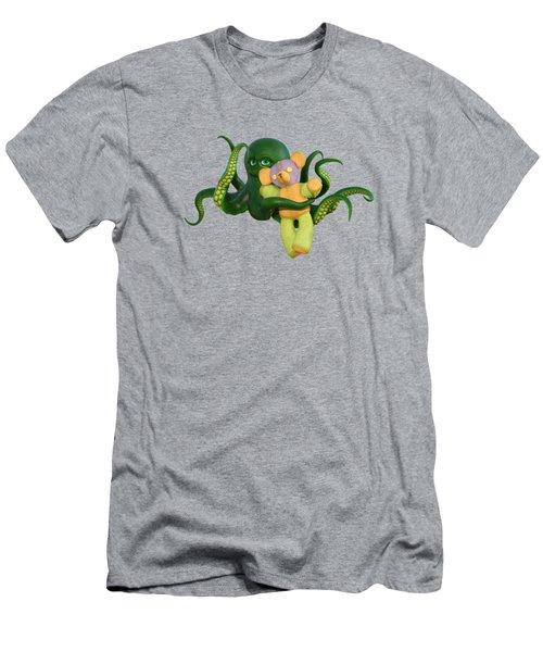 Octopus Green And Bear Men's T-Shirt (Athletic Fit)