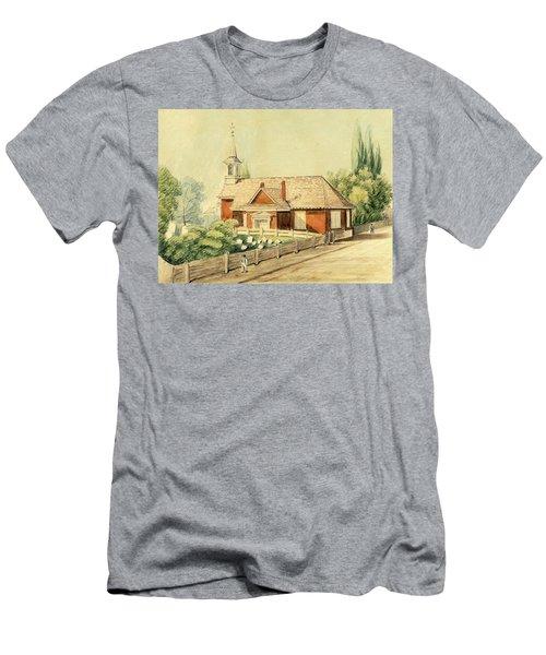 Old Swedes' Church, Southwark, Philadelphia Men's T-Shirt (Athletic Fit)