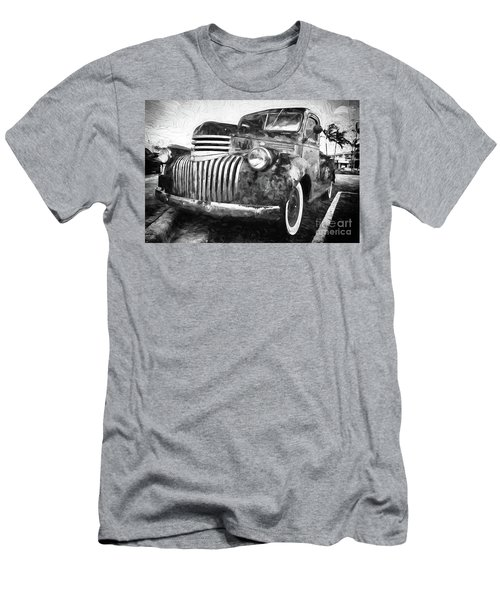 Old Truck  - Painterly Men's T-Shirt (Athletic Fit)