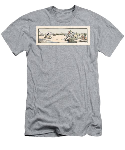 Men's T-Shirt (Athletic Fit) featuring the painting Omey Races, Galway by Val Byrne