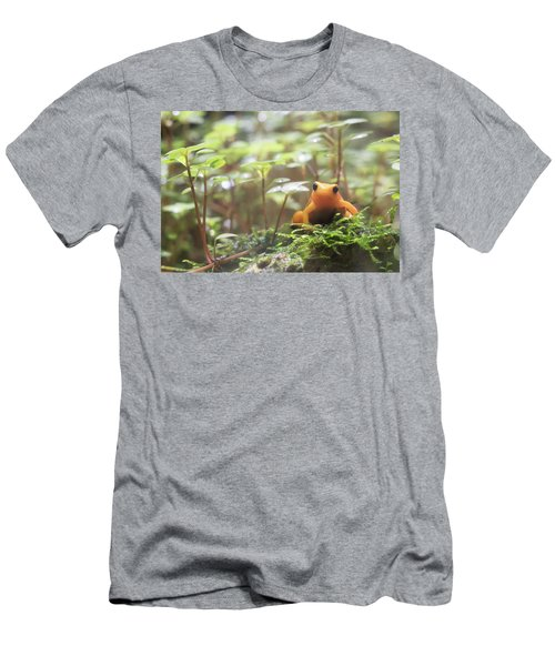 Men's T-Shirt (Athletic Fit) featuring the photograph Orange Frog. by Anjo Ten Kate
