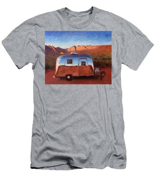 Orange Light On Red Rocks Men's T-Shirt (Athletic Fit)