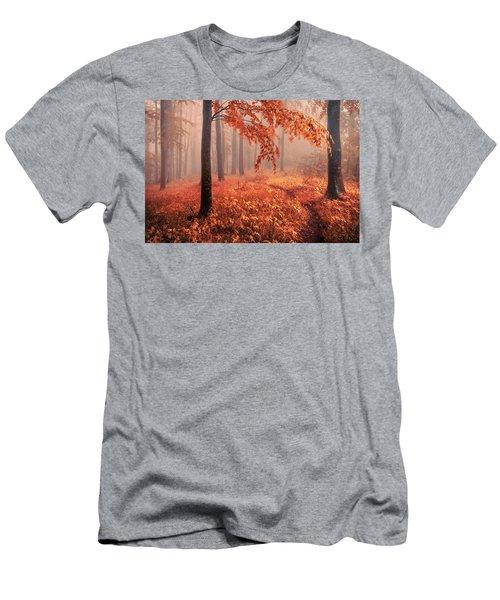 Orange Wood Men's T-Shirt (Athletic Fit)