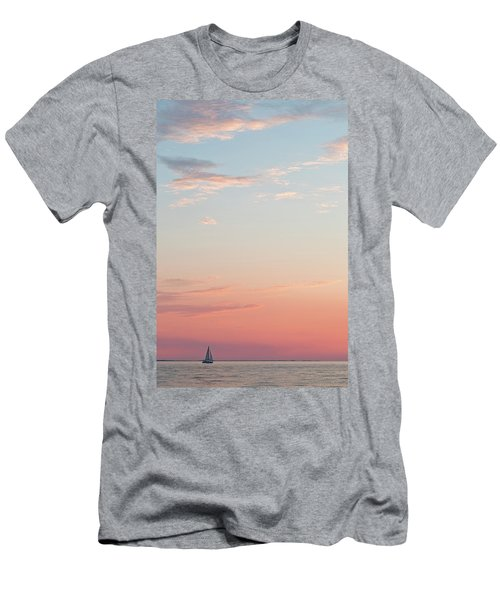 Outer Banks Sailboat Sunset Men's T-Shirt (Athletic Fit)