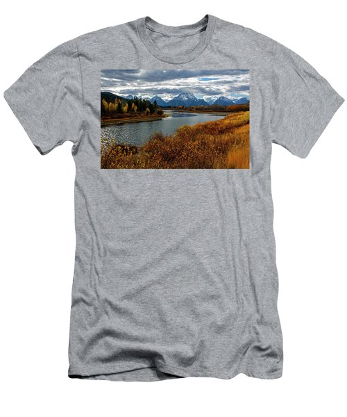 Men's T-Shirt (Athletic Fit) featuring the photograph Oxbow Bend by Scott Read