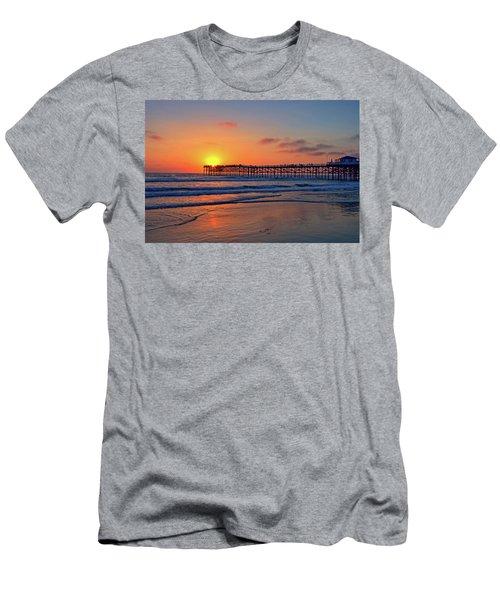 Pacific Beach Pier Sunset Men's T-Shirt (Athletic Fit)
