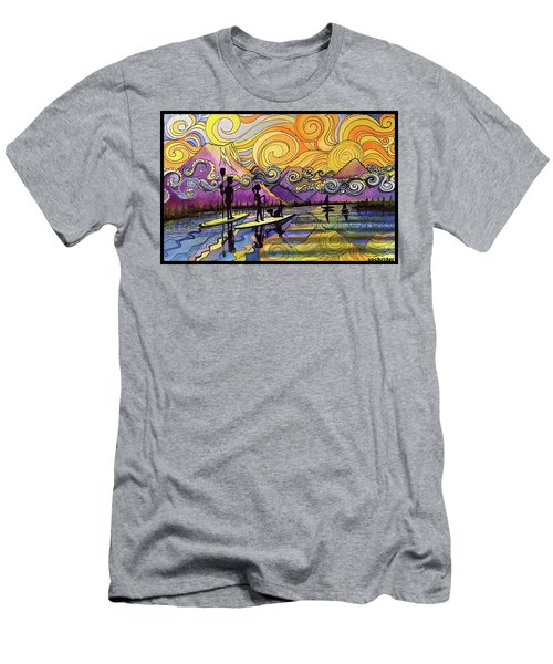 Paddleboarders Frisco Colorado Men's T-Shirt (Athletic Fit)