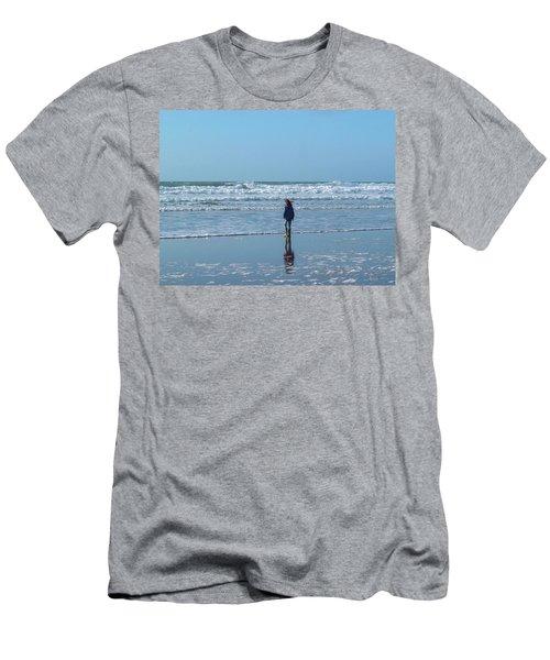 Paddling At Sandymouth Beach North Cornwall Men's T-Shirt (Athletic Fit)