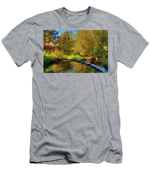Men's T-Shirt (Athletic Fit) featuring the photograph Palouse River Reflections by David Patterson