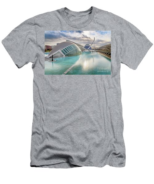 Panoramic Cinema In The City Of Sciences Of Valencia, Spain, Vis Men's T-Shirt (Athletic Fit)