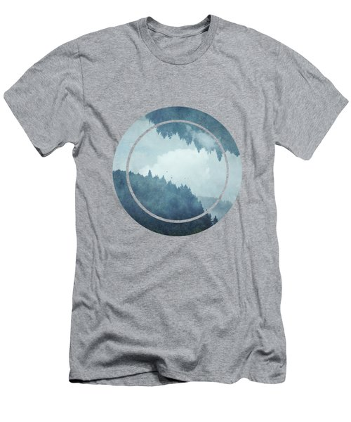 Passing Days - Misty Blue Mountains Men's T-Shirt (Athletic Fit)