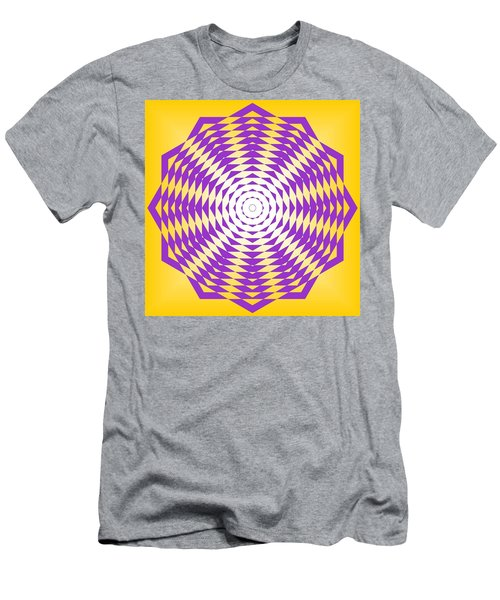 Men's T-Shirt (Athletic Fit) featuring the painting Passionate Purple  by Arttantra
