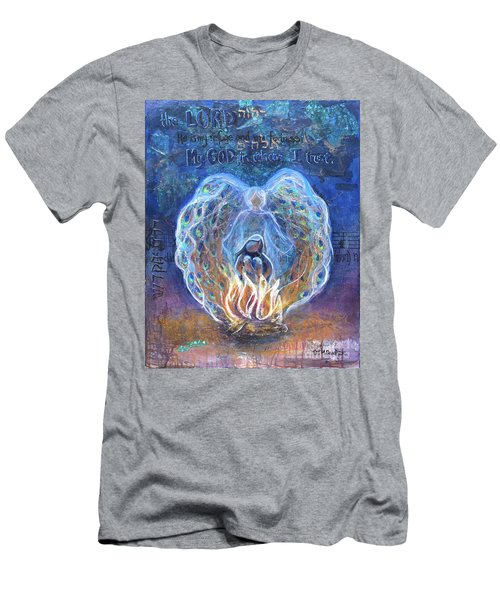Peacock Angel Men's T-Shirt (Athletic Fit)