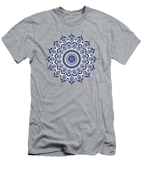 Peacock Feathers Mandala Men's T-Shirt (Athletic Fit)
