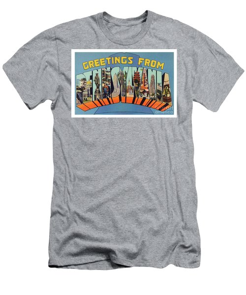 Men's T-Shirt (Athletic Fit) featuring the photograph Pennsylvania Greetings by Mark Miller